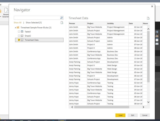 Microsoft Power BI Tutorial - A simple timesheet dashboard